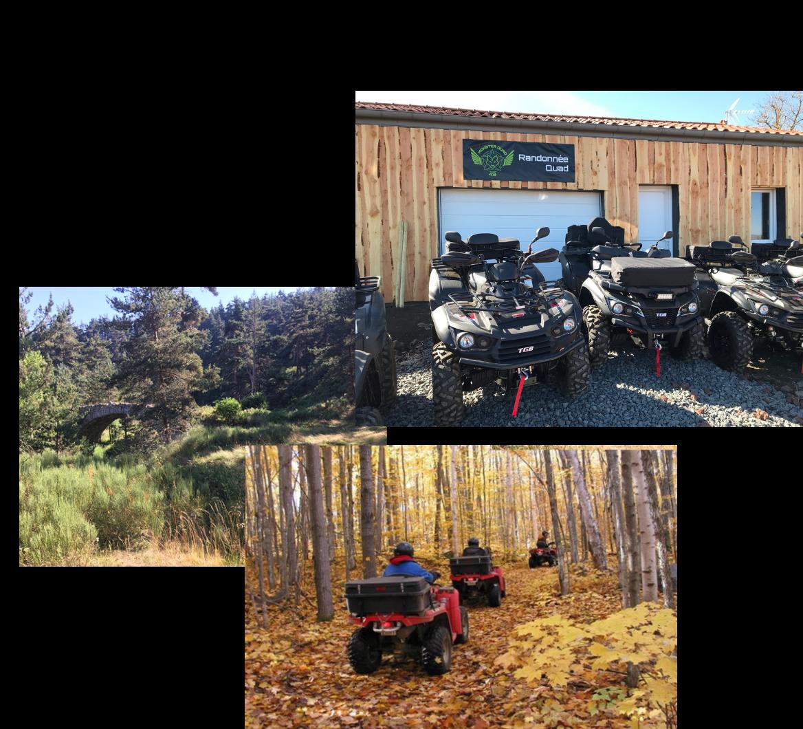 Randonnées en quad à Arlempdes